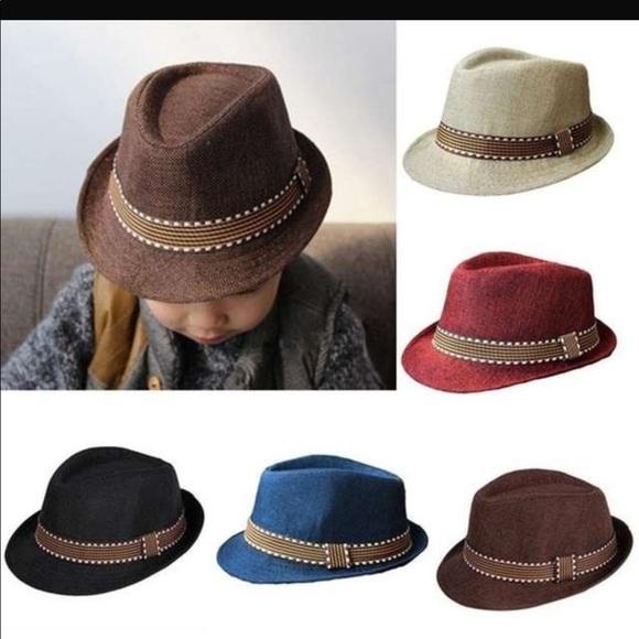Kids Fedora Hats Boysgirls  48f3fa631b0
